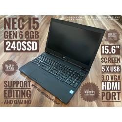 """NEC i5 GEN 6 8GB 240SSD 15.6"""""""